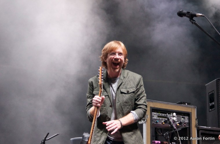 Trey Anastasio Smiling 8/15/12 Phish