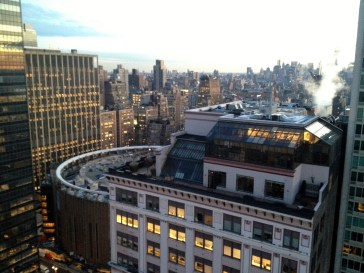 View from our hotel of MSG / NYC