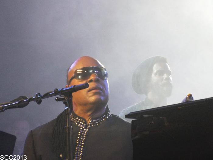 Stevie Wonder and Gary Clark Jr.