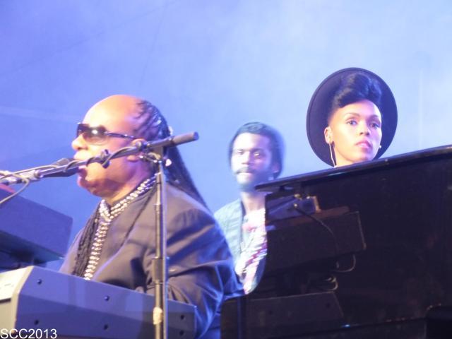 Stevie Wonder, Gary Clark Jr, and Janelle Monae
