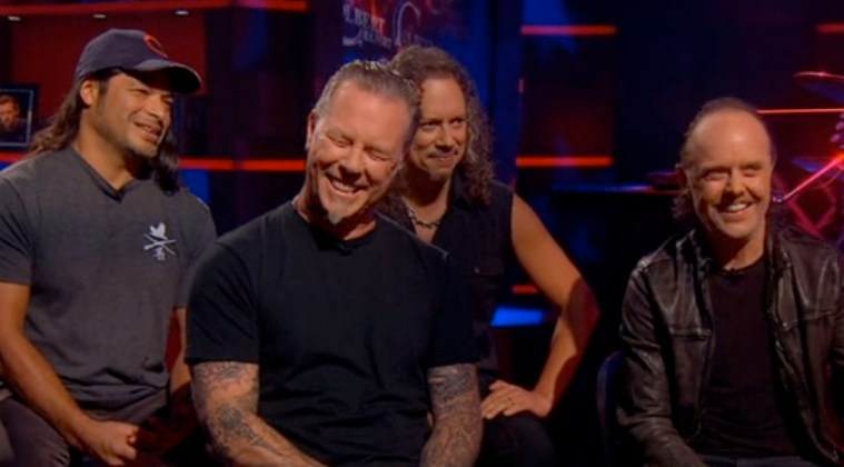 metallica on the colbert report