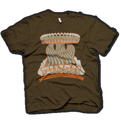 Mothership 2013 t-shirt via LivePhish.com
