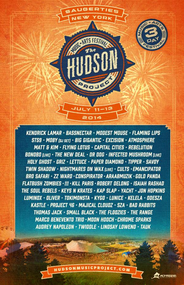 hudson project full lineup