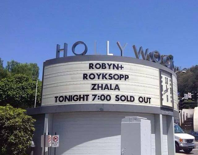 robyn royksopp hollywood bowl marquee
