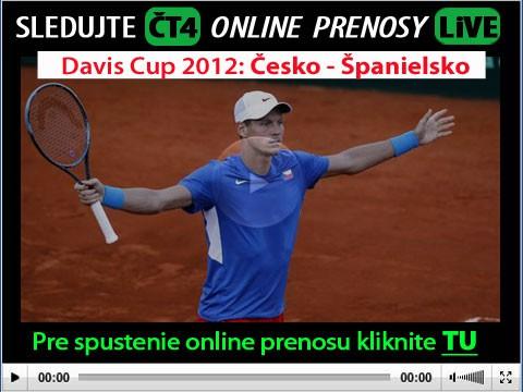 Davis Cup Live stream prenosy: Česko vs Španielsko