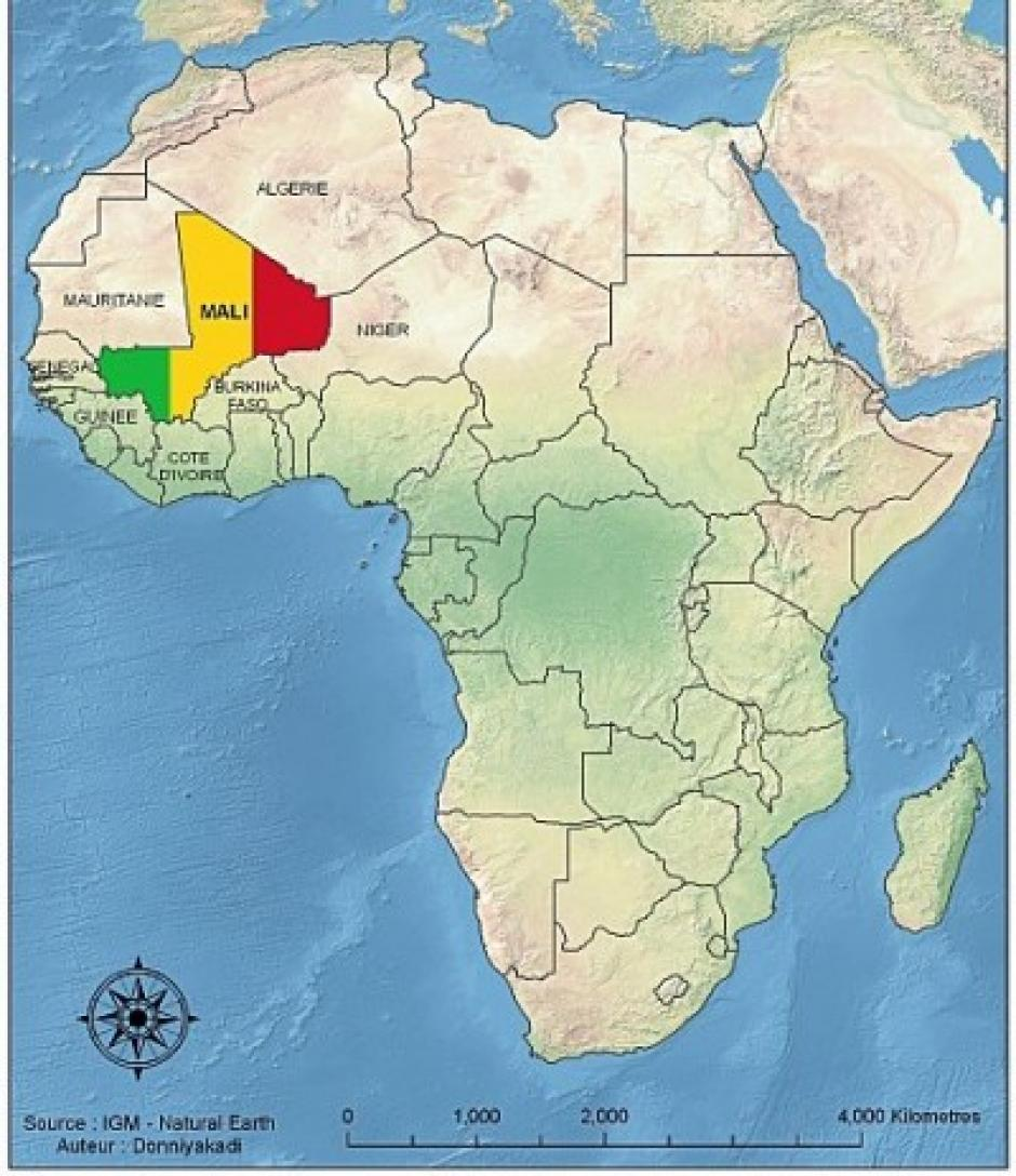 Africa map mali