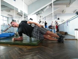 Dumbel Side Plank