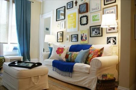living room wall collage ideas