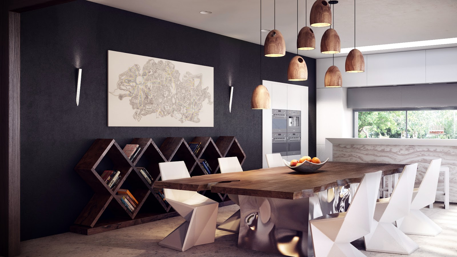 modern dining table set modern kitchen tables standout furniture creates sleek lines in this modern dining area