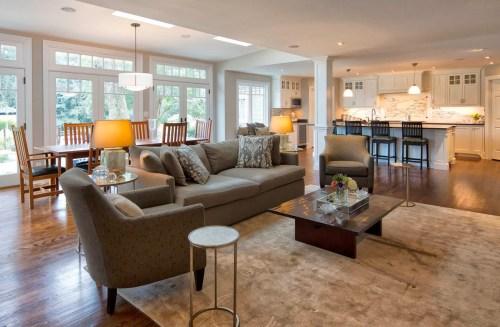 Medium Of Open Living Room Kitchen Designs