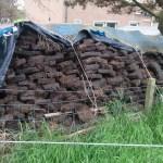 Cut peat stack in Bettyhill