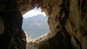 Looking out from an Austrian machine gun position