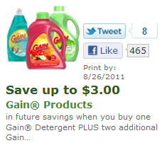 Safeway: HOT Gain Dish Soap and Laundry Detergent Deals!!!