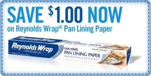 NEW $1/1 Reynolds Wrap Pan Lining Paper