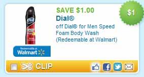 Walmart: FREE Dial for Men Speed Foam Body Wash + MoneyMaker!