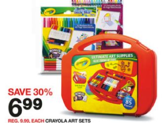 NEW high value Crayola Art Supply coupons + HOT Target Scenario!!!