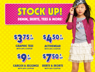 Children's Place is have a HUGE back to school sale! Score jeans for just $7.50 shipped!!