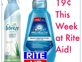 Rite Aid: Febreze and Crest Pro Health Washwash just $0.19 each!