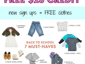 Back to School Time! HURRY for a limited time you can score $20 in FREE name brand clothing from ThredUp!!!