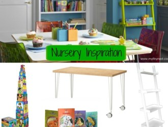 Friday Fashion Inspired Room on a Budget – Green Martian Nursery/Playroom