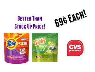 CVS – Tide Pods and Gain Detergent just $0.69 each!