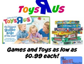 Toys R Us Hasbro Toys and Games as low as $0.99 each!