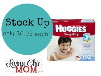 STOCK UP!!! Huggies Diapers just $0.05 each!