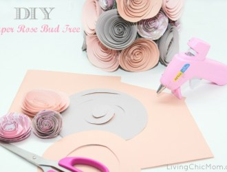 DIY Paper Rose Bud Tree Tutorial