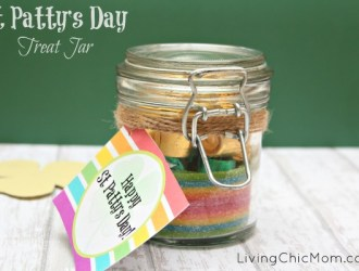 DIY – St Patty's Day Treat Jar (and printable)