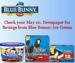 See how to get your Blue Bunny Coupons this Sunday!