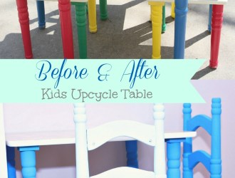 Shabby Chic Kids Table Upcycle (Before & After)