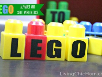 DIY LEGO Alphabet and Sight Word Blocks