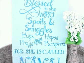 DIY Wooden Sign Tutorial (Blessed by Nana)