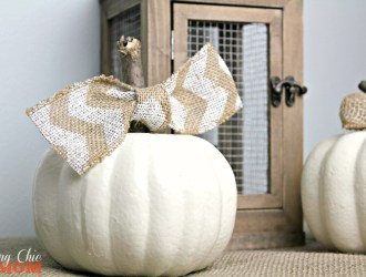 Upcycled Dollar Tree Shabby Chic Pumpkin