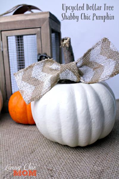upcycled dollar tree pumpkin
