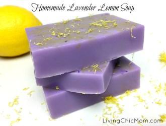 Homemade Lemon Lavender Soap