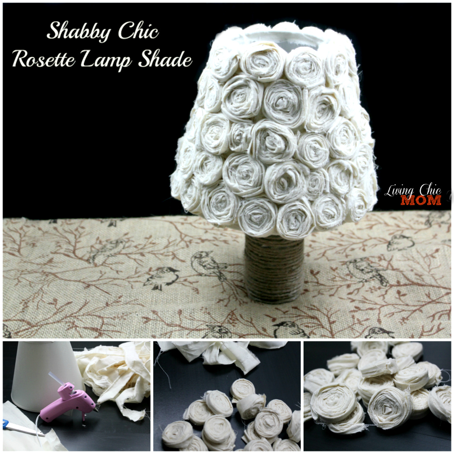 shabby chic lamp Collage