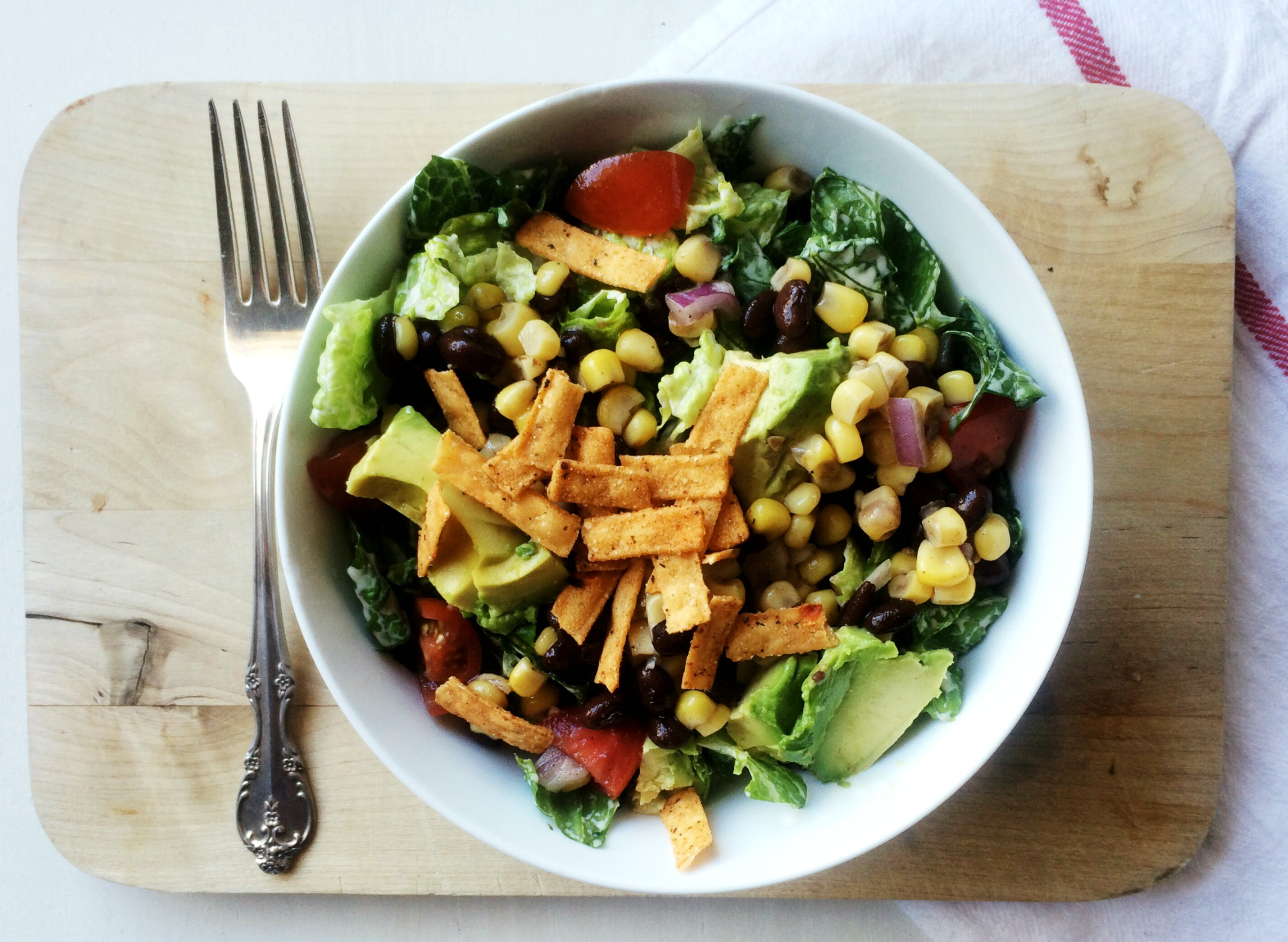 Living for Pretty's Southwest Salad