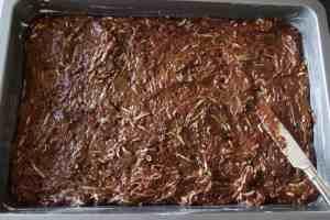 Zucchini Brownies ~ Living on Cookies