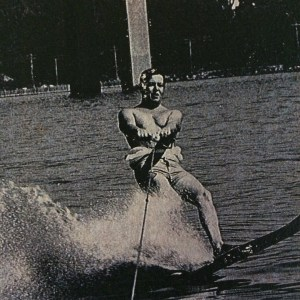 My dad going slalom on the Hudson river.