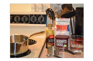 Ingredients for Make Your Own Chocolate Syrup