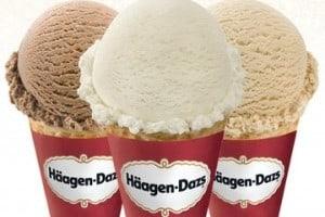 Free ice cream scoop at Haagen-Dazs shops