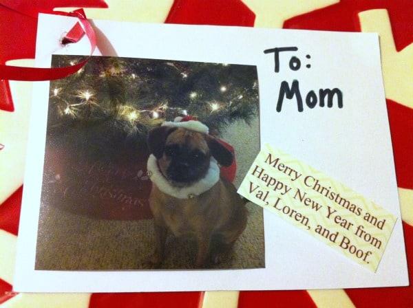 photo card gift tag