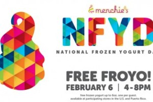 Menchie's serves free fro-yo with toppings