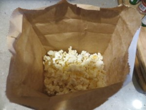 Brown-bag popcorn