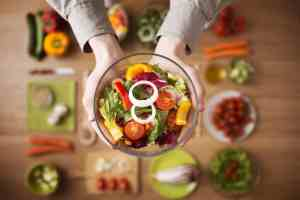 Healthy fresh homemade salad diet