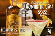 Discounts on Tony Roma-ritas for National Margarita Day