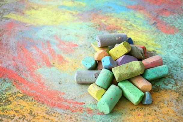 Pile of Sidewalk Chalk