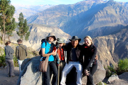 Group picture. Top of Colca Canyon 8am