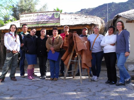 The Living Roots team stands in front of the newly built San Javier Cultural Center